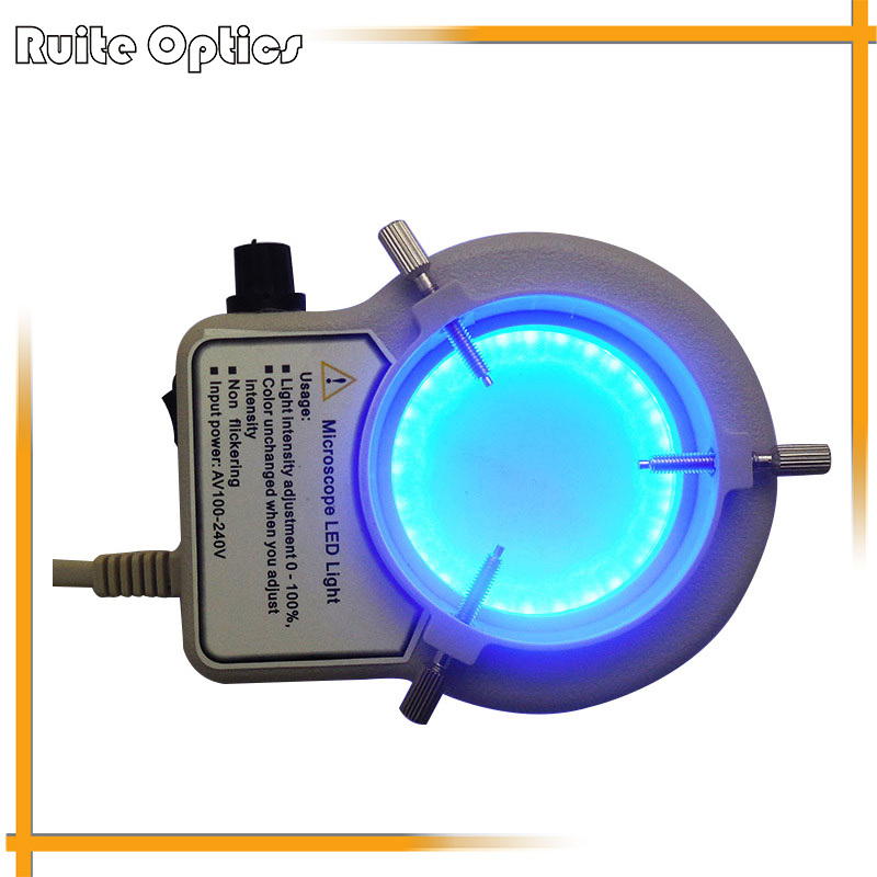 Blue Light Microscope Light 56 Led Illuminated Ring Lamp for Zoom Stereo Biological Microscope Accessory microscope ring light microscope d fluorescent lamp
