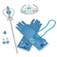 Princesse elsa et Anna pour les gants congelés coeur baguette boucles d'oreilles bague ensemble filles cadeau