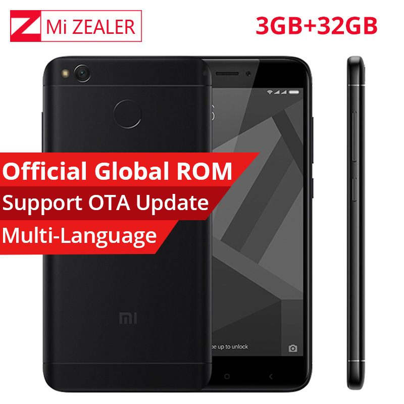 Original Xiaomi Redmi 4X 3GB RAM 32GB ROM Mobile Smartphone Snapdragon 435 Octa Core 1280×720 5 Inch 4100mAh 13.0MP MIUI9