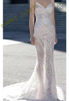New fashion transparent glassy sequin no stretch mesh french embroidery fabric for show/wedding/evening dress/party