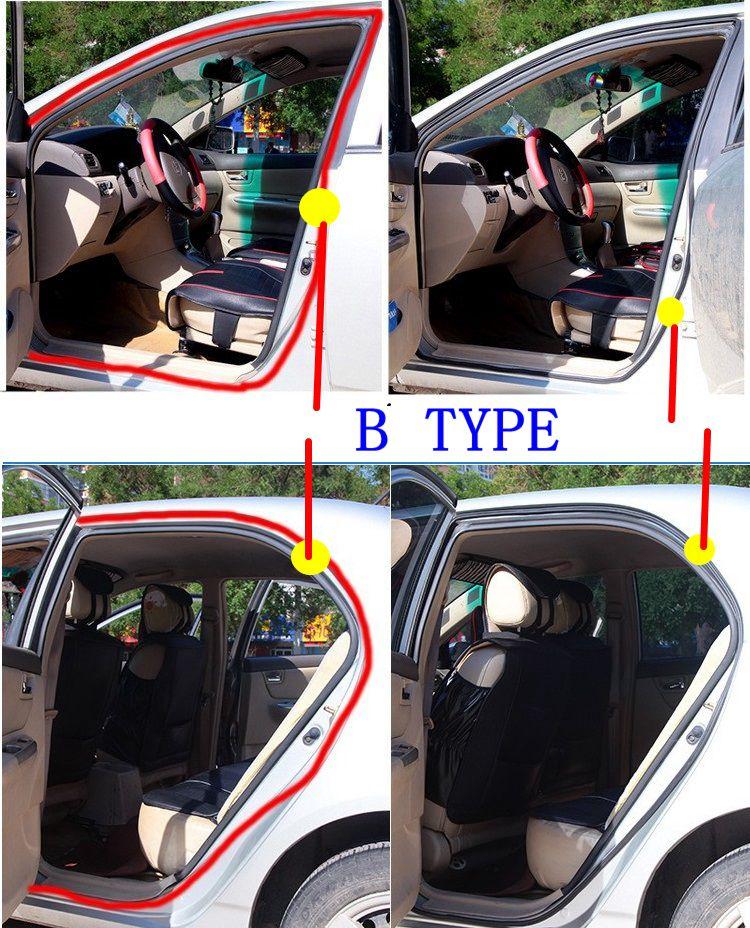 2Meter D Z P B Type 3M Adhesive Car Rubber Seal Sound Insulation  Weatherstrip Edge Trim Noise Insulation Car Door Sealing Strip