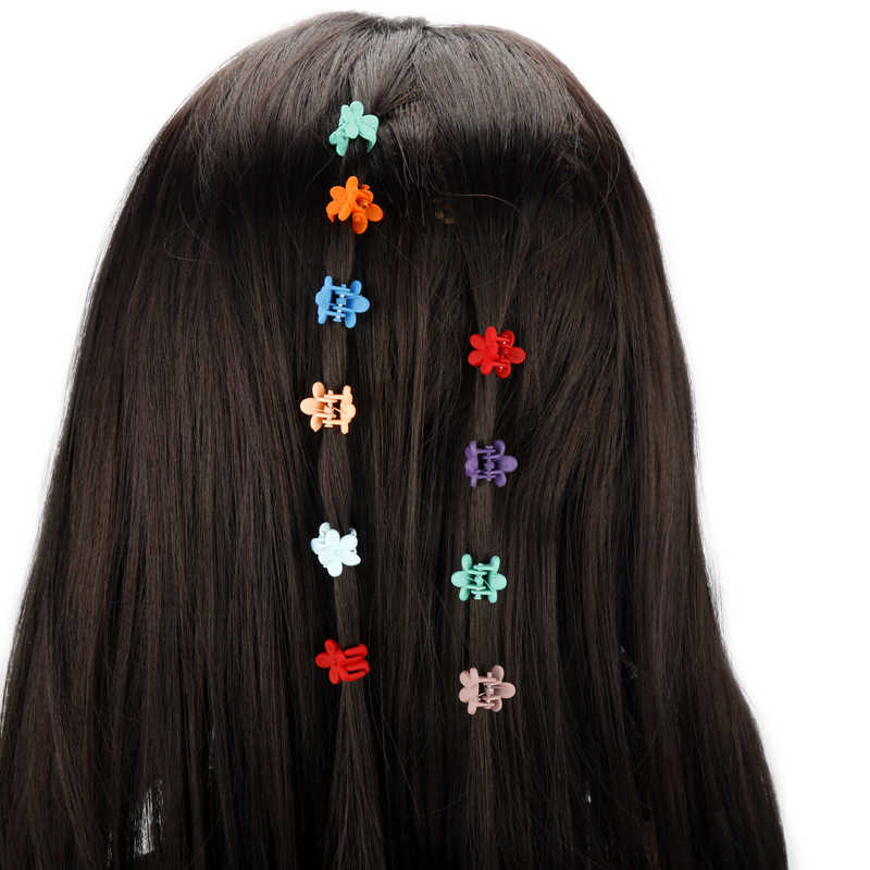 1 pieza nueva moda niñas pequeñas garra de pelo lindo Color caramelo flor pinza de mandíbula niños horquilla accesorios para el cabello envío de la gota