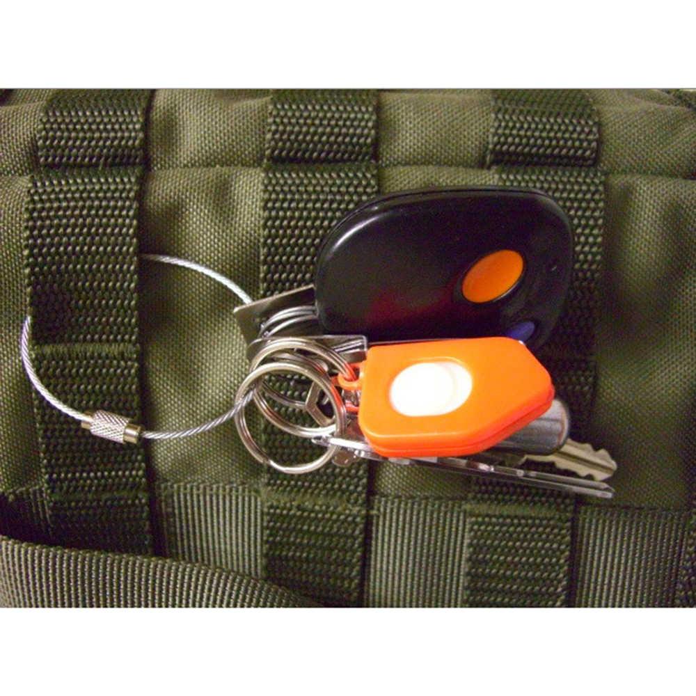 Suti 10 PCS Aço Inoxidável Fio Keychain Cabo de Corda Chave Titular Chaveiro Chave Anéis Da Cadeia de Mulheres Homens Jóias