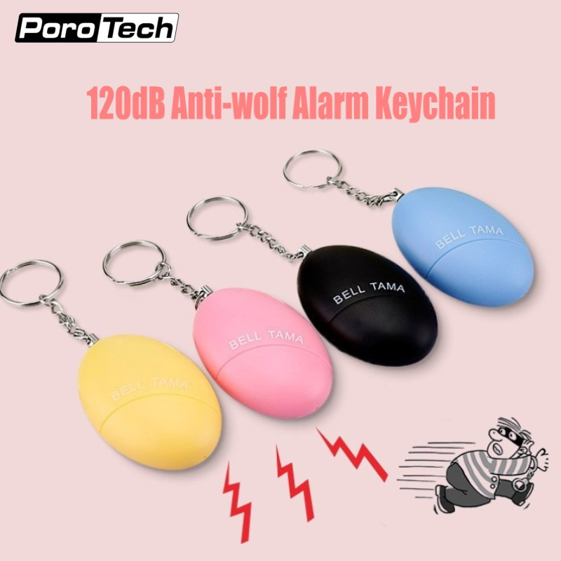 10pcs Bell Tama Mini Key chain Personal Alarm 120dB Emergency Self Defense Alarm Keychain for protecting Women Kids students tama tsp6