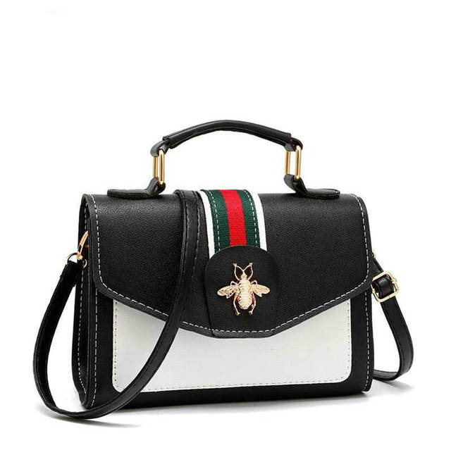 THREEPEAS Women PU Leather Shoulder Bag Small Crossbody Bag with Chain For Girls Ladies Bag