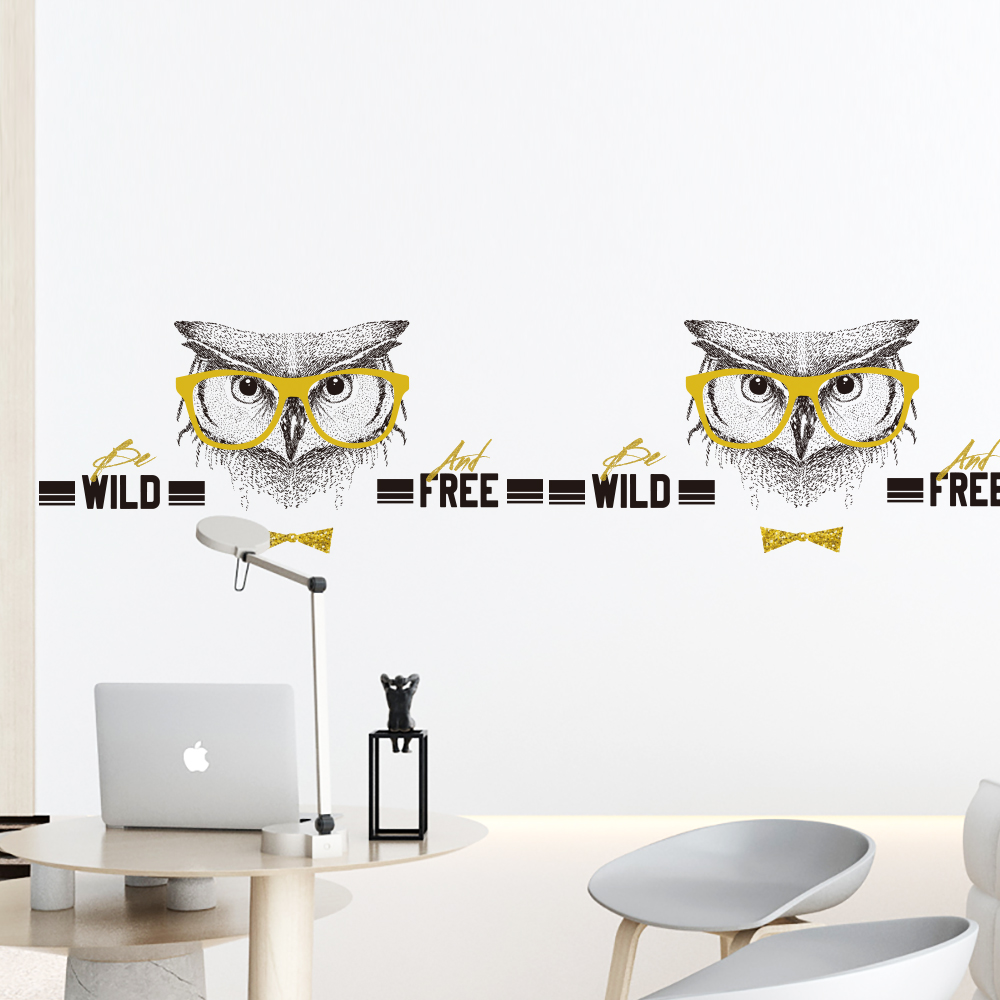 Fashion elves Wall Sticker company Decor DIY Removable For office meeting room barbershop QTM380-4