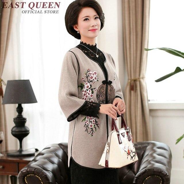 US $90.0  Di mezza età abbigliamento cappotto donne di mezza età abbigliamento di stile cinese donne anziane abbigliamento moda per le donne di mezza