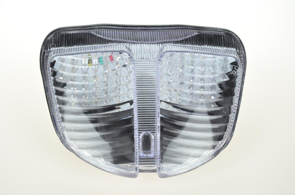 Светодиодный Встроенный задний фонарь сигнала поворота для SUZUKI GSXR600/GSXR750 05-07 - Цвет: Прозрачный