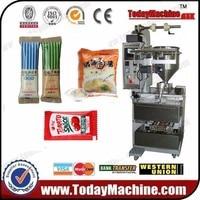 Chili Garlic Sauce Pouch Bag Sachet Filling Sealing Packing Machine