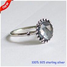 100% 925-Sterling-Silver anillo cristalino de moda anillos de boda para mujeres caen el envío