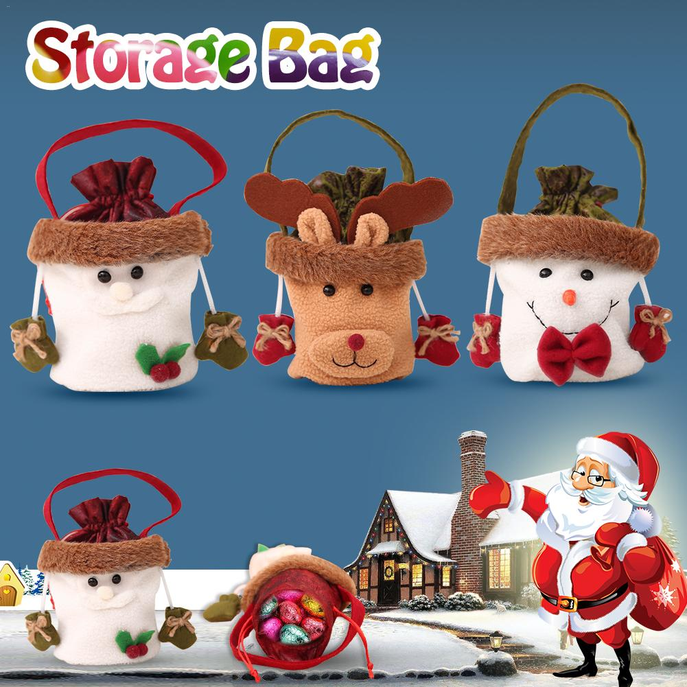 Christmas Decoration Supplies Christmas Apple Bag Santa Clau