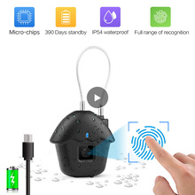 Chinese digital fingerprint smart touch keyless door lock usb Rechargeable travel luggage suitcases safty master metal padlock
