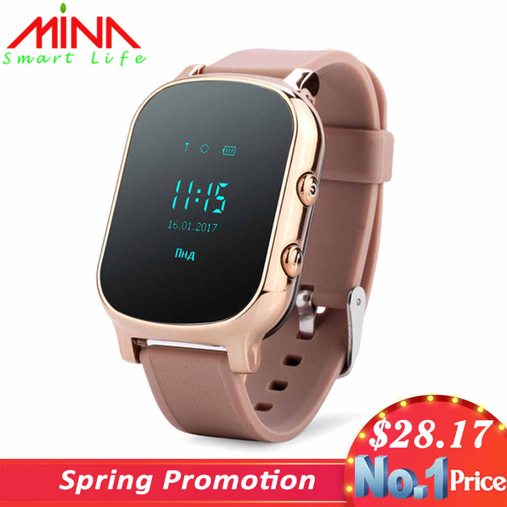 GPS WIFI Tracker Smart Watch Kids Personal Locator T58 GSM Tracking sim card smartwatch children's watches For IOS android Phone