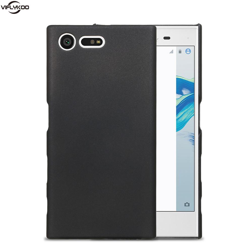 Case Fundas For Sony Xperia XZ Phone Case Black Hard Back Cover For Song Xperia X Compact LuxurySlip Smartphone Protective Cover