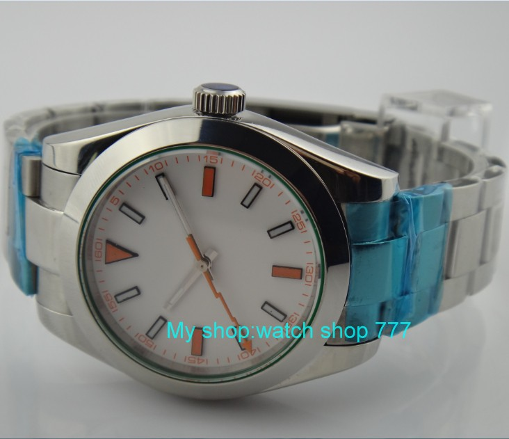 40MM PARNIS white dial Automatic Self-Wind movement Sapphire Crystal men's watch luminous Mechanical Wristwatches 38sk 40mm parnis white dial automatic self wind movement sapphire crystal men s watch mechanical wristwatches 42sk