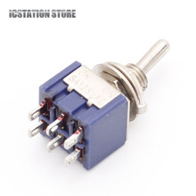 10Pcs MTS-202 Mini Toggle Switches 6 Pin 2 Position DPDT ON-ON Duplex Slide Switch 6A 125V/3A 250V AC