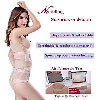 a8c4bb23ea 3 In 1 Postpartum Support Recovery Belly Wrap Waist pelvis Belt Body Shaper  Postnatal Shapewear
