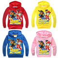 Boys girls Spring Autumn dog cartoon hooded sweater long-sleeved T-shirt Children's boy girl Sweatshirts coat 2-10t 4colors 7245
