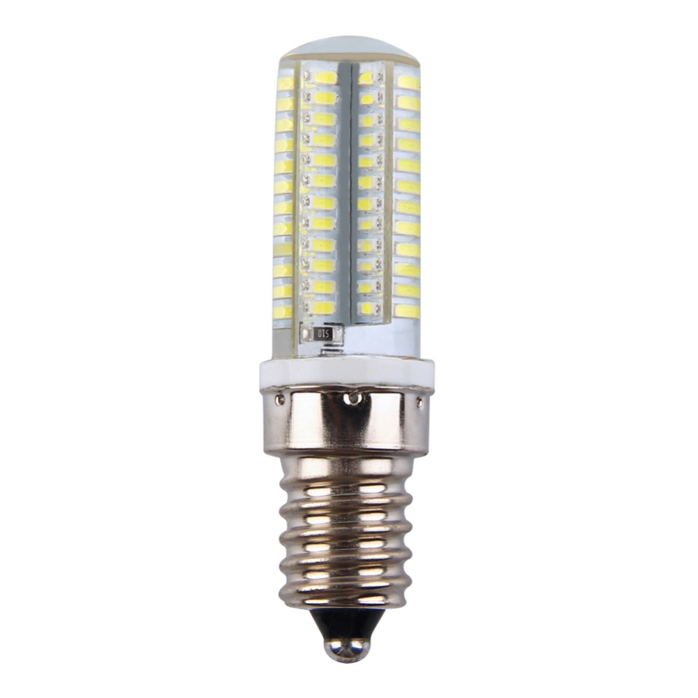 High Quality Dimmable E14 5W 96LED Silicone Crystal LED Corn Bulb White Corn Lamp 110V 220V