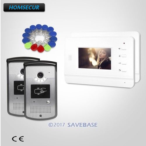 43 Homsecur Hands Free Video Door Entry Phone Call System With