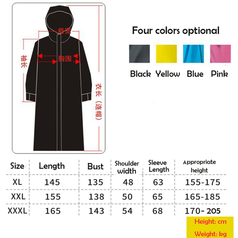 2019 Hot Sale EVA Raincoat Women/Men Zipper Hooded Poncho Motorcycle Rainwear Long Style Hiking Poncho Environmental Rain Jacket Lahore