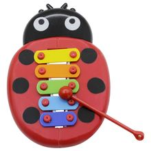 Cute Cartoon Inset Beetle Musical Toy Percussion Kid Music Instrument Early Learning Educational Fun