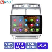 EKIY 9 »ips 2.5D автомобильный мультимедийный плеер Android Авторадио Стерео аудио для peugeot 307 2004-2013 с 4G модемом gps навигация