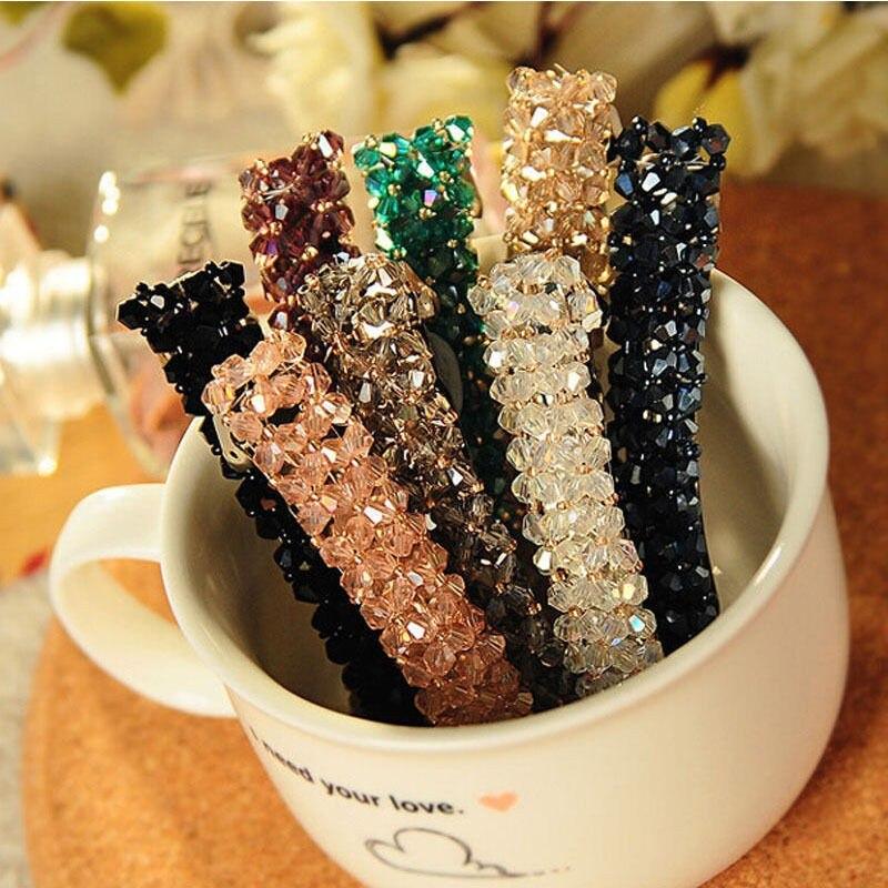 HTB1aihIJFXXXXXzXVXXq6xXFXXX7 Women's Sparkling Rhinestone Crystal Beads Hair Clip Barrette - 6 Colors