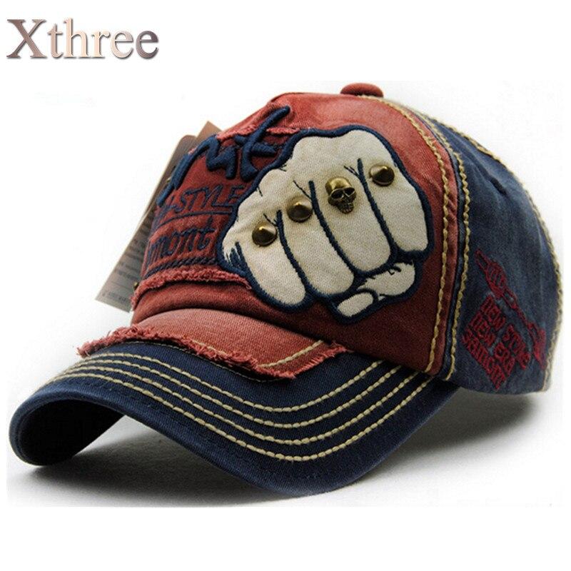 XTHREE мужская мода мужская Бейсболки женщины snapback hat Хлопок Повседневная шапки Лето осень Шляпы для мужчин шапка оптовая
