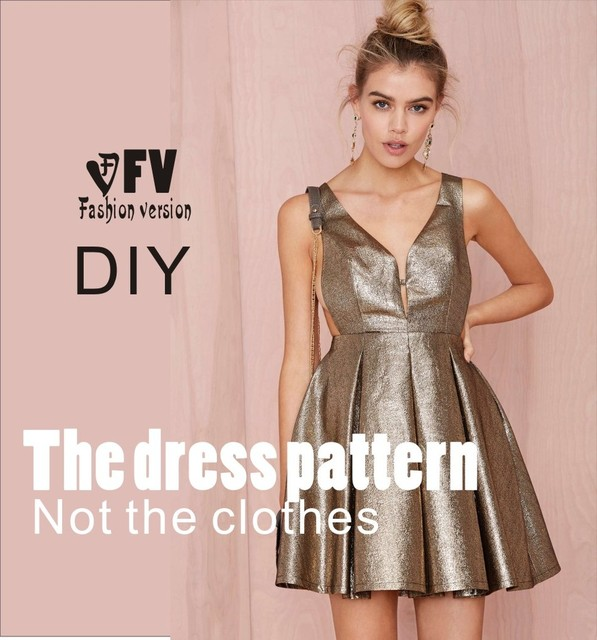 Dresses Sewing Pattern Template Cutting drawing Clothing DIY ((Not ...
