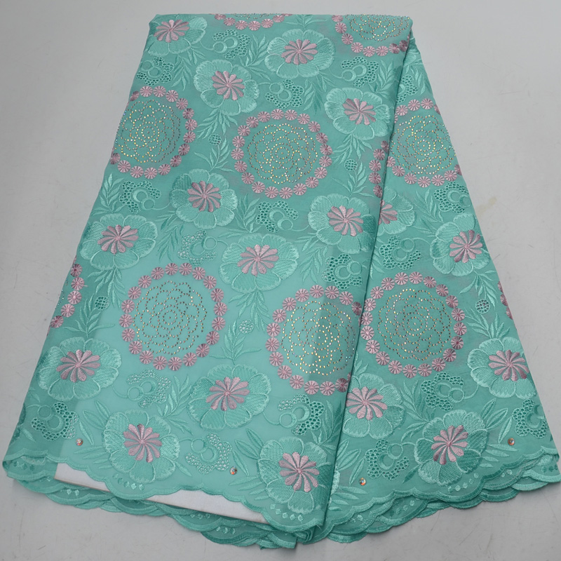 Free shipping (5yards/pc) high quality mint green African Swiss voile lace fabric with embroidery and stones for dress CLP320Free shipping (5yards/pc) high quality mint green African Swiss voile lace fabric with embroidery and stones for dress CLP320
