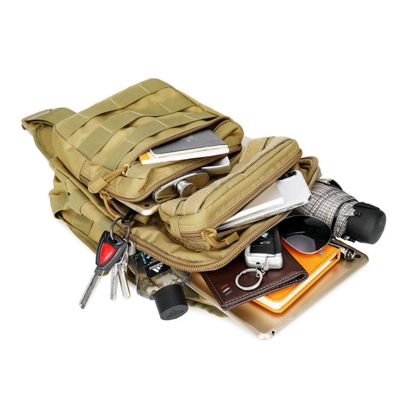 Image 4 - Tactical Chest Backpack Military Bag Hunting Fishing Bags Camping Hiking Army Hiking Backpacks Mochila Molle Shoulder Pack XA65AClimbing Bags   -