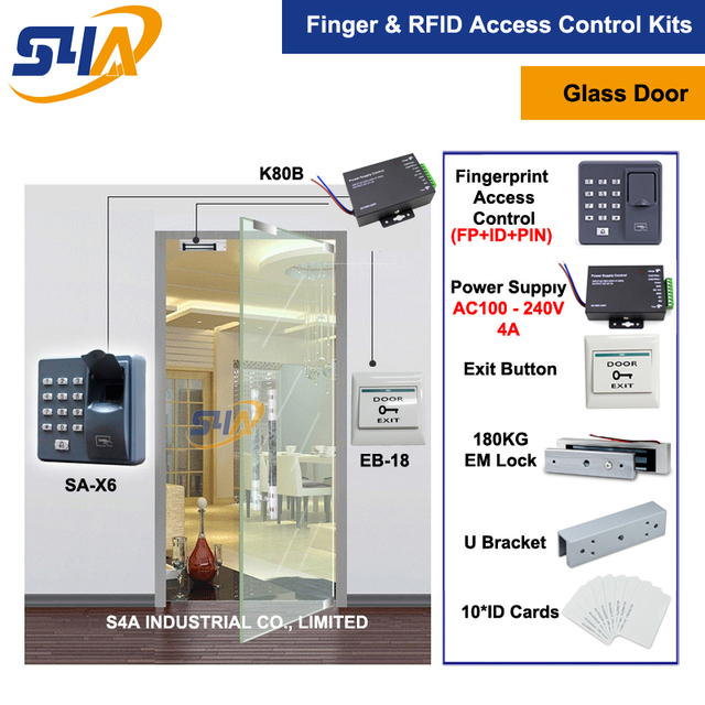 X6 rfid door entry system + 180KG Magnetic Lock and U Bracket for glass door  sc 1 st  AliExpress.com & X6 rfid door entry system + 180KG Magnetic Lock and U Bracket for ...