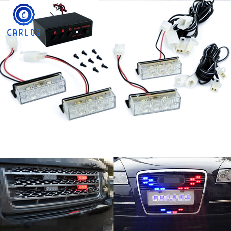 CARLOB Flashing Controller Box Flash Strobe Light Emergency Driving Lamp 12V For Car Motorcycle Blue / Red / Yellow / White