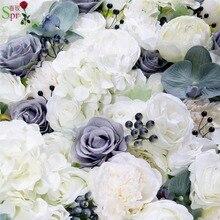 SPR высококачественные 3D Цветочные стеновые панели с искусственными ягодными орхидеями свадебный фон искусственные розы цветочные композиции