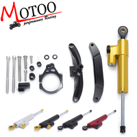 Motoo Motorcycle CNC Damper Steering StabilizerLinear Reversed Safety Control Bracket For Yamaha FZ1 FAZER 2006 2007