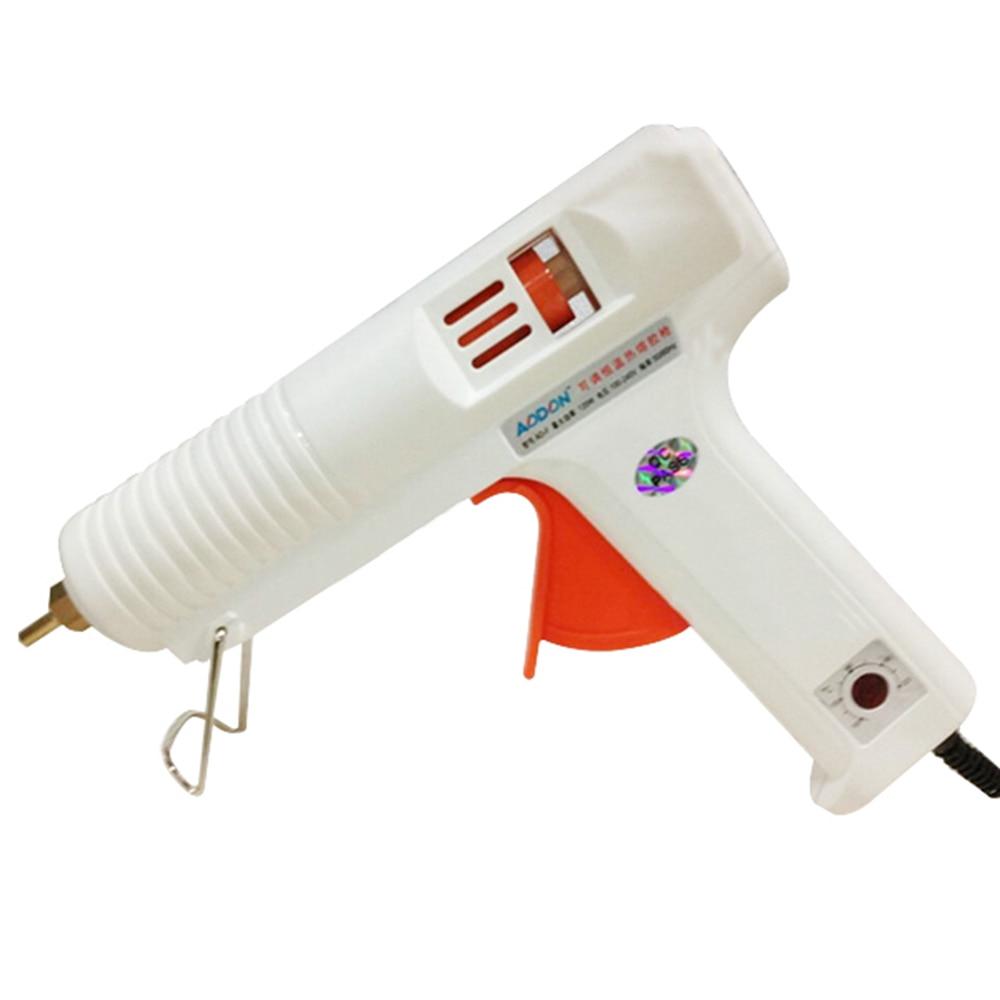 100/120 W Hot Melt Glue Gun Temperatura Regolabile Professionale Fit 11mm Bastone Con L'UE Spina Di Conversione Graft Riparazione KC1278