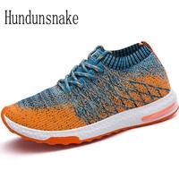 Hundunsnake Summer Socks Sneakers Men Trainers Breathable Men Gym Shoe Adult Male Shoe Sport Running Shoes
