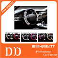 9Colors NEW Leopard Print Fur Cute Steering Wheel Covers Girls Size 38cm Fits Most Car Styling Winter Warm Free Shipping