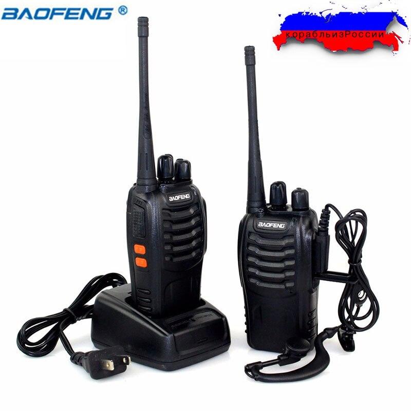 2 Pcs/ensemble Baofeng BF-888S Talkie Walkie à Deux voies Radio bf888s 5 W 16CH UHF 400-470 MHz BF 888 S Comunicador Émetteur Émetteur-Récepteur