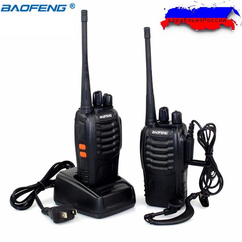 2 Teile/satz Baofeng BF-888S Walkie Talkie Funkgeräte bf888s 5 Watt 16CH UHF 400-470 MHz BF 888 S Comunicador Sender Transceiver