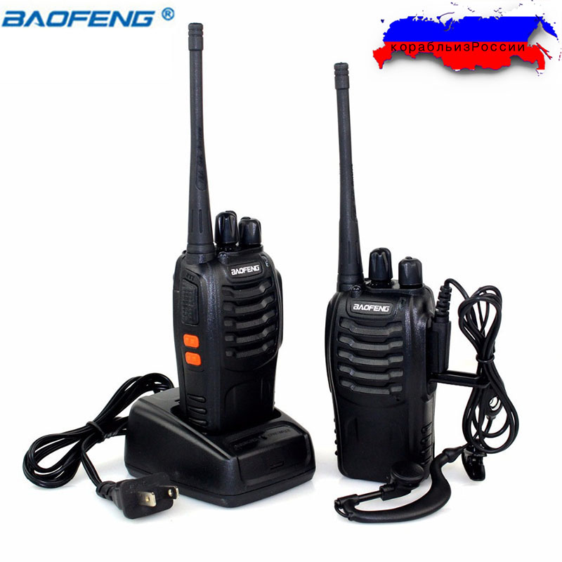 2PCS/set Baofeng BF-888S Walkie Talkie Two way Radio bf888s 5W 16CH UHF 400-470MHz BF 888S Comunicador Transmitter Transceiver