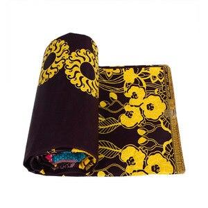 Image 2 - 100% Cotton Ankara African Printing Batik Fabric Real Wax Africa Tissu Sewing Material For Party Dress Artwork Craft DIY Textile