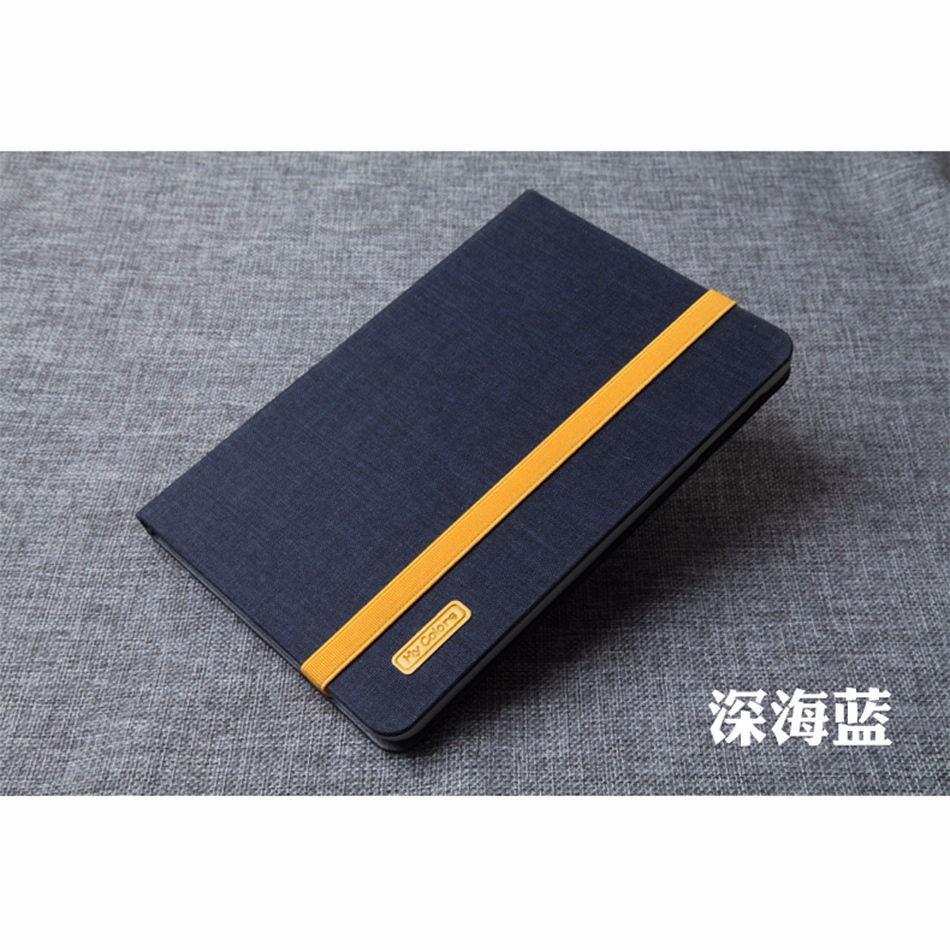Case For Apple Ipad Mini 4 Cloth PU Leather+ Soft TPU Smart Cover Folio Stand Casual Style Case For Ipad Mini4 Protective Shell