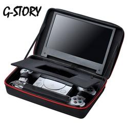 G-STORY 11.6 بوصة FHD 1080P شاشة عرض ألعاب للبلاي ستيشن كلاسيك مع حقيبة حمل Ips لوحة شاشة الألعاب السوداء