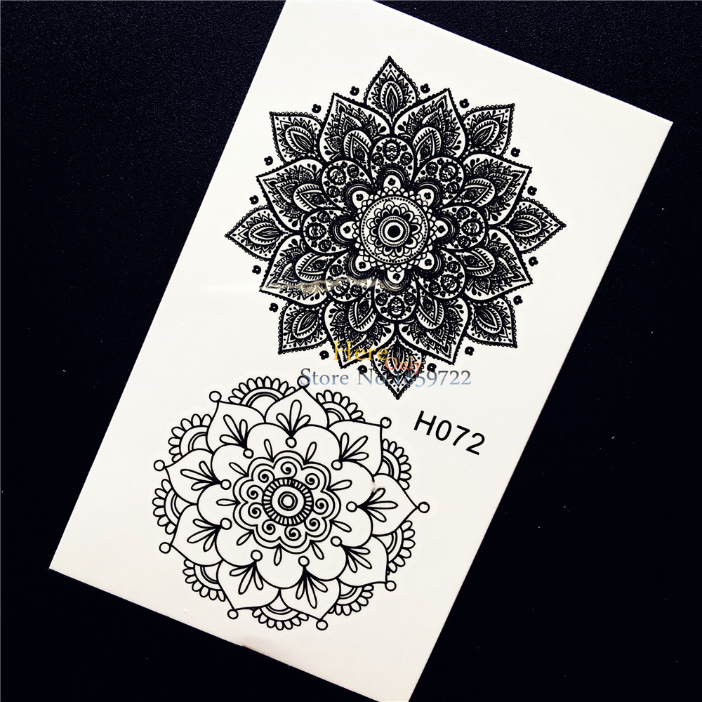 Beauty & Health 1pc Black Ink Henna Flower Temporary Tattoo Sticker Diy Waterproof Fake Tattoo For Women Body Art Arm Leg Tattoo Stickers Hh072 Cleaning The Oral Cavity.