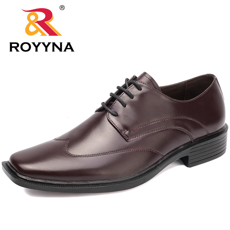 ROYYNA New Popular Style Men Formal Shoes Lace Up Men Office Shoes Microfiber Men Flat Shoes Comfortable Fast Free Shipping стоимость