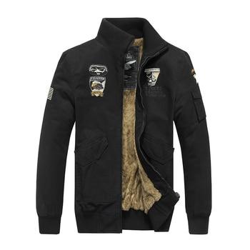 Winter Tactical Jacket Men Army Coat Militar Clothes Bomber Airborne Air Force Pilot Mens Combat Jackets Chaqueta Militar Hombre