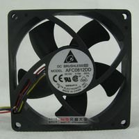 8020 12V 0 75A 8CM Double Ball PWM Automatic Speed Control CPU Fan AFC0812DD