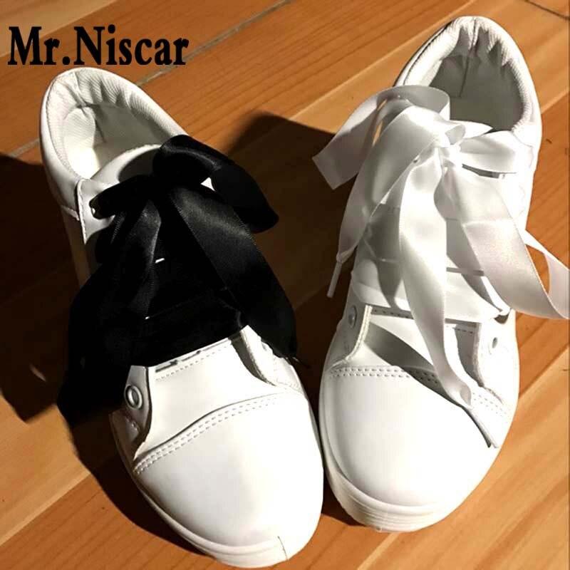 Mr.Niscar 2 Pair Fashion Colorful Silk Ribbon Shoelace Women Flat Shoelaces Sneaker Sport Shoes Fantastic Shoe Laces skechers women s ez flex 2 chilly fashion sneaker